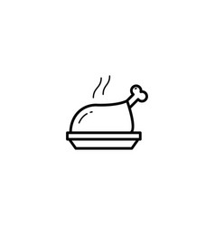 chicken roast icon vector image