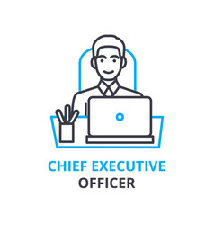 Chief executive officer concept outline icon vector
