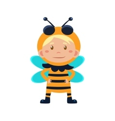 Child Wearing Costume of Bee vector image
