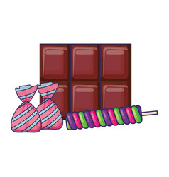 Chocolate candy design vector
