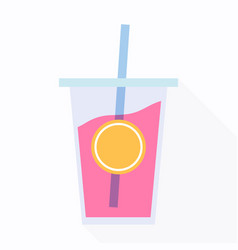cold drink icon vector image