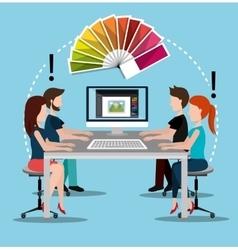 Creative ideas graphic designer vector