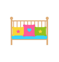 crib young child bed with barred or latticed sides vector image