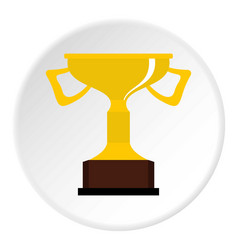 Cup for victory icon circle vector
