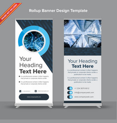 Cutting edge rollup banner in denim and sapphire vector