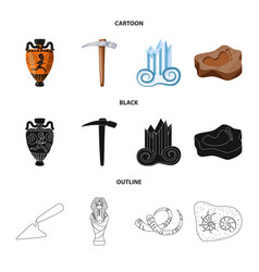 design of story and items symbol vector image