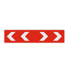 Detour of obstacle on the left icon flat style vector