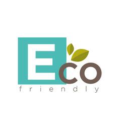 Eco friendly symbol vector