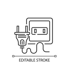 electrical outlet linear icon vector image