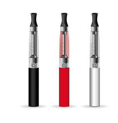 electronic cigarette layout in different colors vector image