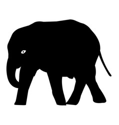 elephant silhouette icon eps vector image