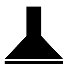 exhaust hood the black color icon vector image