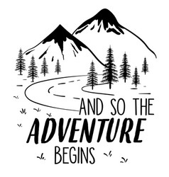 explore adventure hand drawing vector image