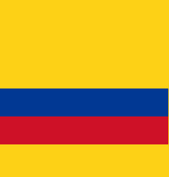 flag of colombia flag with official colors vector image