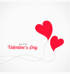 flying hearts design valentines day background vector image