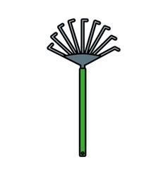 garden rake isolated icon vector image