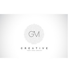 Gm g m logo design with black and white creative vector