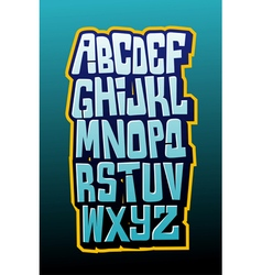 Graffiti comics style letttering font alphabet vector