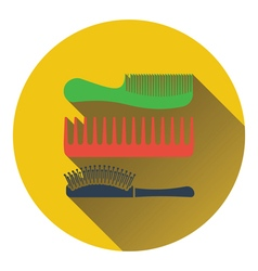 Hairbrush icon vector image