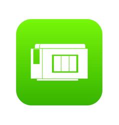 Inkjet printer cartridge icon digital green vector