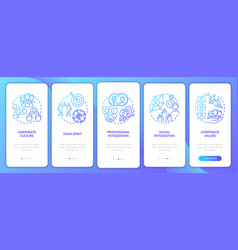 Integration onboarding mobile app page screen vector
