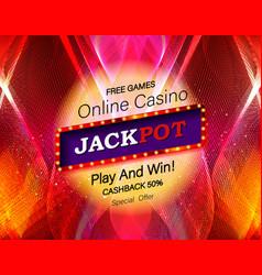 jackpot advertisement template vector image
