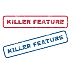 Killer feature rubber stamps vector