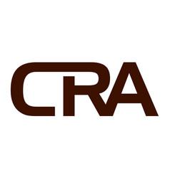 Letter cra modern logo vector