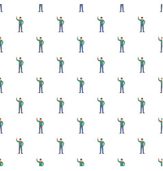 man hand up pattern seamless vector image