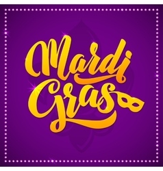 Mardi Gras Carnival Calligraphy Poster vector image