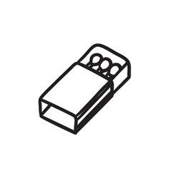 matchbox sketch icon vector image