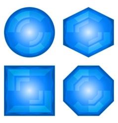 Modern buttons vector