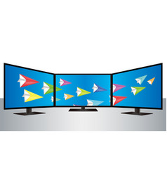 multi smart tv vector image