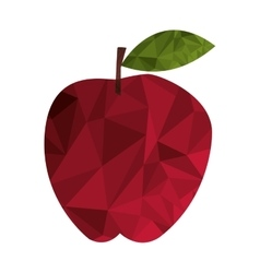 Polygon texture apple icon vector