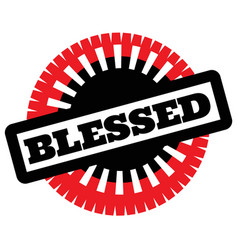 Print blessed stamp on white vector