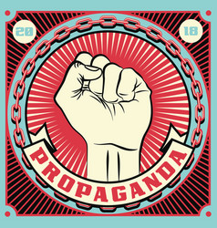 raised protest human fist vector image