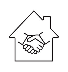 Real estate deal linear icon vector