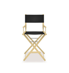 Realistic 3d detailed director cinema chair vector