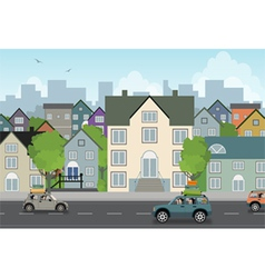 Scenery town vector image