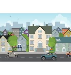 Scenery town vector