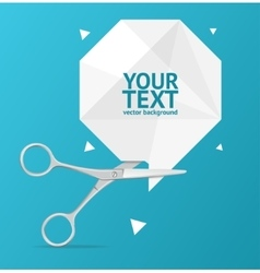 Scissors Origami Speech Bubble Banner vector image