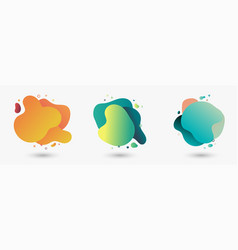 set abstract modern graphic elements gradient vector image