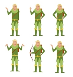 Set of Forest Fantasy Elves vector