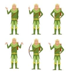 Set of Forest Fantasy Elves vector image