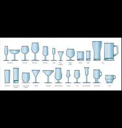 Set of wine glasses vector