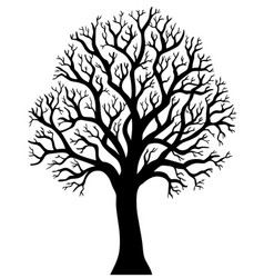 silhouette of tree without leaf 2 vector image
