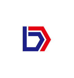 simple geometric strip line letter bd logo vector image