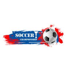 soccer sport game football ball banner vector image