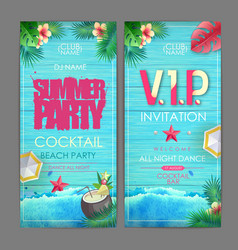 Summer cocktail party poster design disco party vector
