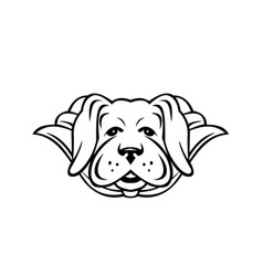 super yellow labrador dog wearing cape front view vector image